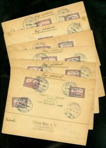 EDW1949SELL : HUNGARY Unusual group of 6 1921 Air Mail covers all w/ Scott #C3-5