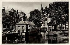 Gouda Niederlande alte Ansichtskarte ~1940 Gouwe met Visbanken Partie am Fluss