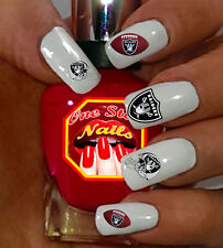 Oakland Raiders Nail Art Waterslide Nail Decals Set of NFL-OR-001-56