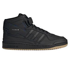 adidas Originals Forum Mid Leather Shoes in Black