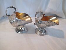 Vintage Raimond Silverplate Sugar Bowl Scuttle and Unbranded Sugar Candy Scuttle