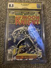 Marvel Spotlight #28 CGC 8.5 Signed Doug Moench 1st solo Moon Knight app.