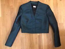 philosophy di alberta ferretti Iridiscent Blue Blazer Coat Size 4 Retail $380