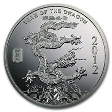 2 oz Year of the Dragon Silver Round
