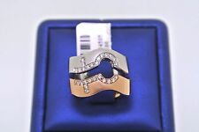 LGBT Gay Lesbian Pride 18k Two Tone Gold 0.50 CT Diamond Rings Size 7