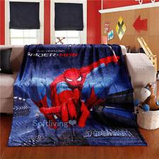 Spiderman Soft Warm Plush Flannel Bedding Sleep Blanket Flat Queen 150X200