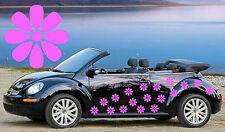 18, Rosa Tear Drop Daisy coche Autoadhesivos, Stickers, alquiler de gráficos