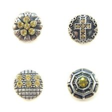 Noosa Style Chunks Mini Ginger Snap On Jewellery Button Charms Yellow 12mm