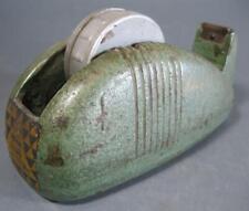 Vintage art deco Bear brand cast-metal 50s sticky tape dispenser -machine-age