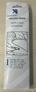 Whitecroft Dressmakers Tracing Paper~5 Multi Coloured Sheets Each 165mm x 495mm