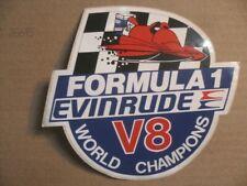 Ancien Auto - Collant  Neuf  FORMULA 1  EVINRUDE  V8  WORLD  CHAMPIONS