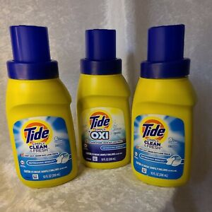 2 TIDE DETERGENT SIMPLY CLEAN FRESH REFRESHING BREEZE & 1 TIDE OXI 10 oz