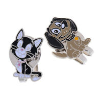 Set of 2 Cat Dog Alloy Golf Hat Clip with Magnetic Ball Marker Golfer Gift