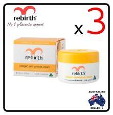 [ Rebirth ] 3 x REBIRTH COLLAGEN ANTI-WRINKLE CREAM WITH EPO & VIT E 100ML