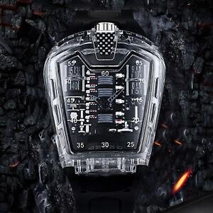 For KIMSDUN Fashion Men's Sports Waterproof Quartz Watch Silicone Rubber Straps