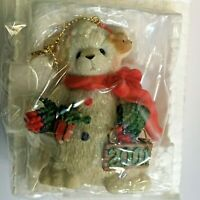 Mint Cherished Teddies 865044 Snowbear Hanging Christmas Ornament 2001 NIB v