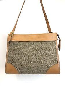 """Vtg HARTMANN LUGGAGE Leather & Tweed Carry On Overnight Bag  Shoulder Strap 17"""""""