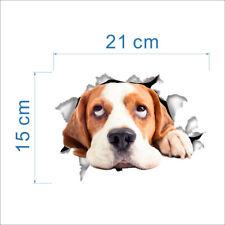 3D Wandsticker Wandtattoo Badezimmer  niedliche Hund ca. 21 cm x 15 cm