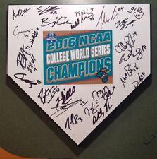 2016 Coastal Carolina Signed Baseball Home Plate Andrew Beckwith World Series