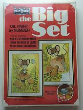 Vintage Craft House-The Big Set oil paint by numbers- # 581 Mice and Mushrooms