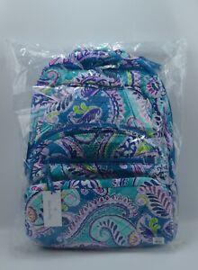 Vera Bradley Essential Large Quilted Backpack Waikiki Paisley
