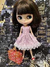 Blythe Doll Outfit Cloth DOT Print Purple Dress