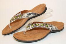 Vionic Floriana Womens 7 38 Beaded Flip Flops Sandals Comfort Walking Shoes