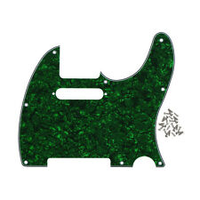 Green Pearl 4Ply Tele Guitar Pickguard 8Holes & Screws For Fender Tele Guitar