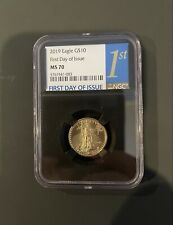 Authentic 2019 American Eagle G$10 1/4 Ounce .9999 Gold MS 70 NGC