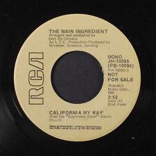 MAIN INGREDIENT: California My Way / Mono 45 (dj, funky midtempo Crossover Soul