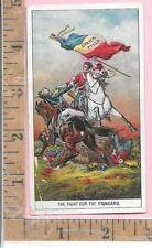 """AYER'S PILLS """"THE FIGHT FOR THE STANDARD"""" FRENCH FLAG SOLDIER HORSE  0812"""