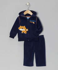 NWT Carter's Navy Daddy's Boy Fleece Jacket & Pants WINTER Outfit Boy 24months
