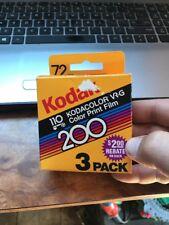110 Kodak Kodacolor VR G 200 72 Exposure Sealed Unused Film Box Expired 1988 HTF