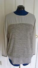 Zara Collection WB Top Colorblock Layered Look Shades of Gray Shirt NWT
