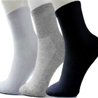 5 Pairs Pure Color Men's Socks Winter Thermal Casual Soft Cotton Mesh Sport Sock