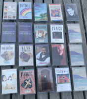 Lot of 20 CHRISTIAN Rock MUSIC Cassettes Sierra Steve Green Mullins