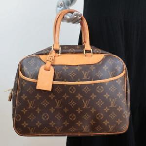 Louis Vuitton Deauville Bag Brown Monogram Canvas Satchel