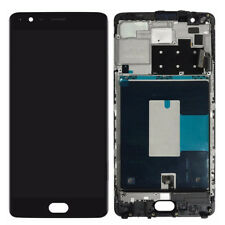 Negro LCD Toque Pantalla Digitizer Assembly con Frame Para OnePlus 3 3T A3000 30