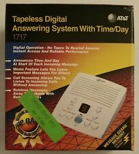 AT&T 1717 Tapeless Digital Answering System With Time & Day NEW