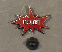 Star Trek Next Generation RED ALERT Metal Enamel Lapel Pin NEW TV CODE CONDITION