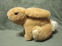 "Vintage Dakin Bunny Rabbit TAN WHITE Plush Stuffed Easter Toy 1981 11"" Long"
