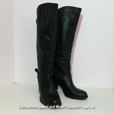 Women's Black High Top Dress Boots Shoes Fashion Size 8