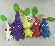 "NEW set of 5 Game Plush Pikmin Plush Leaf 6""-9"" Stuffed plush"