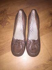 Clarks Olive Green Leather Heels Shoes UK 6 *C1