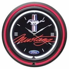 """Ford Double Neon 15"""" Wall Clock, Ford Mustang"""
