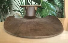 Cool Mid-Century Curved Rainbow Teak Wood Tray w/ Stako Cup Sweden Vintage Rare