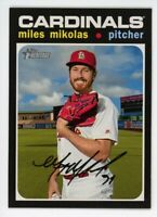 2020 Topps Heritage #288 MILES MIKOLAS St Louis Cardinals 1971 STYLE CARD