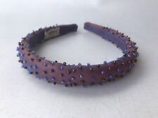 Vintage oohlala iridescent beaded purple occasion headband flower girl wedding