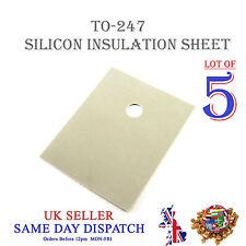 5x TRANSISTOR Isolamento Foglio in silicone TO-247 Isolante Termico Pad 20x25mm
