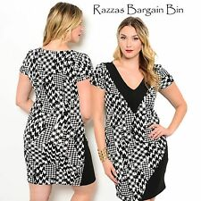 New Ladies Dress With Contrasting Trim Neck Plus Size 16/2XL (9946)NP